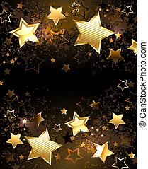 Background with golden stars