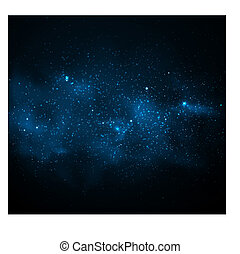 Background with Milky Way. Eps 10