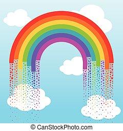 Background with rainbow stars