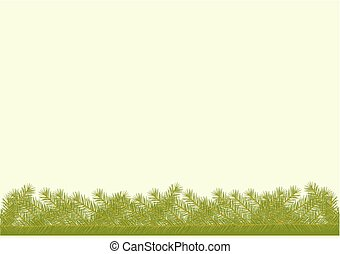 Background with spruce twigs