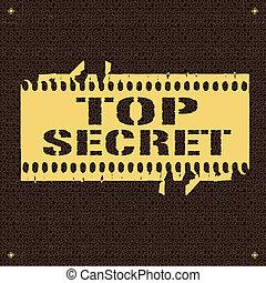 backround whit text Top Secret vector illustration