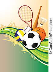 A vector illustration of ball sports background