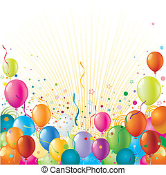 balloon with holiday celebration background