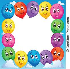 Balloons theme frame 1