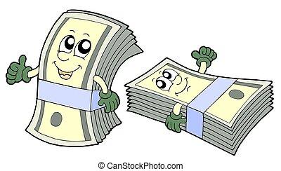 Bank of cute banknotes