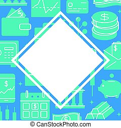 Banking and money poster in flat style with text