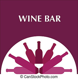 bar menu template with bottles and wine glasses