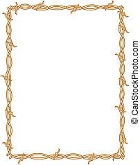Barbed wire border frame background clip art.
