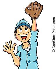 Baseball Boy Catch