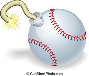 Baseball countdown bomb illustration