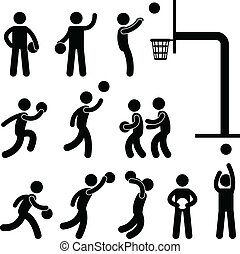 Basketball Player People Icon Sign