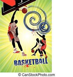 Basketball poster. Vector illustra