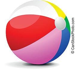 illustration of a colorfull beach ball, eps 8 vector