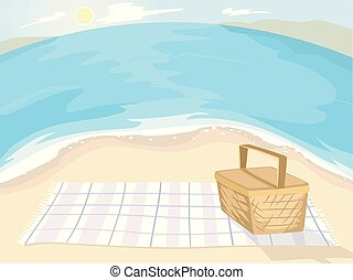 Beach Picnic Illustration