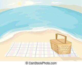 Beach Picnic Illustration