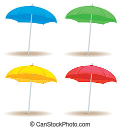 Beach umbrella solid