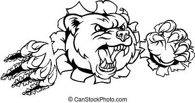 Bear Background Claws Breakthrough