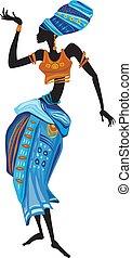 Beautiful African woman in ethnic dress