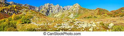 autumn mountain landscape panorama