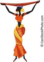 Beautiful black African woman in ethnic dress