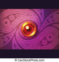 Beautiful glowing diwali vector background