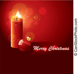 beautiful glowing vector candle background