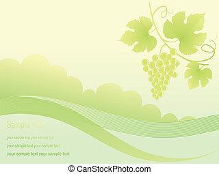Beautiful golden grape background.
