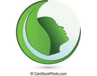 Beauty Leaf Woman logo