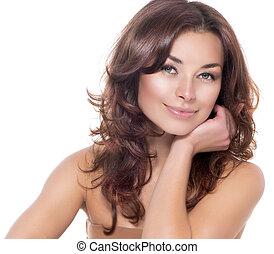 Beauty Portrait. Clear Fresh Skin. Skincare