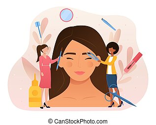 Beauty routine and facial care abstract concept