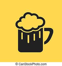 Beer glass pictogram