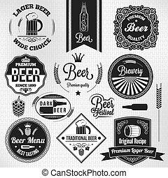 beer set vintage lager labels