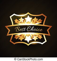best choice label design with stars burst