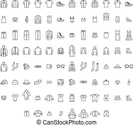 Set of the men, women and baby clothes