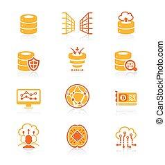 Big data icons || JUICY series