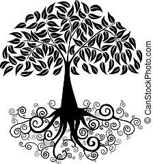 Big tree silhouette