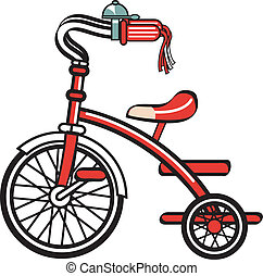 Bike, bicycle, trike or tricycle clipart