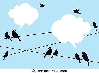 birds in the sky, vector background