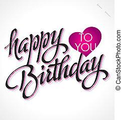 BIRTHDAY hand lettering (vector)