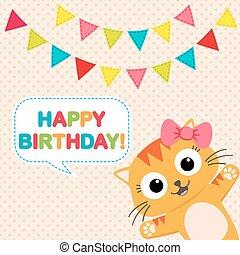 Birthday party card