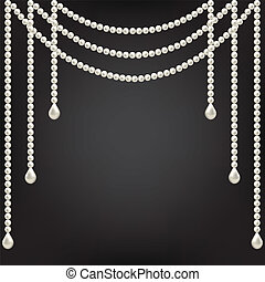 Black background with pearl decoration