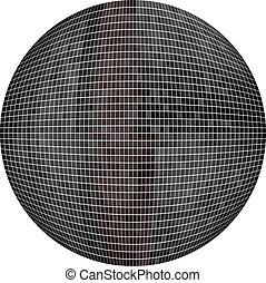 Black Ball in mosaic