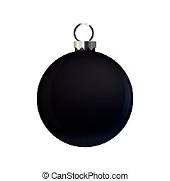 black ball on white background