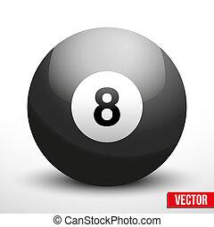 black ball sphere for billiards vector