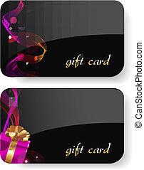 Black Gift Card Set