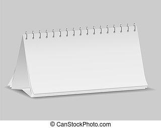 Blank desk calendar, vector eps10 illustration