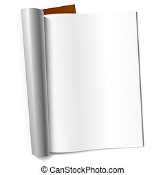 Vector illustration of a blank page of magazine. Insert your graphics.