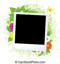 Blank Photo With Flower