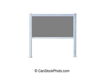 Blank sign board with grey.