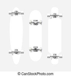 Blank skateboard and longboard shapes